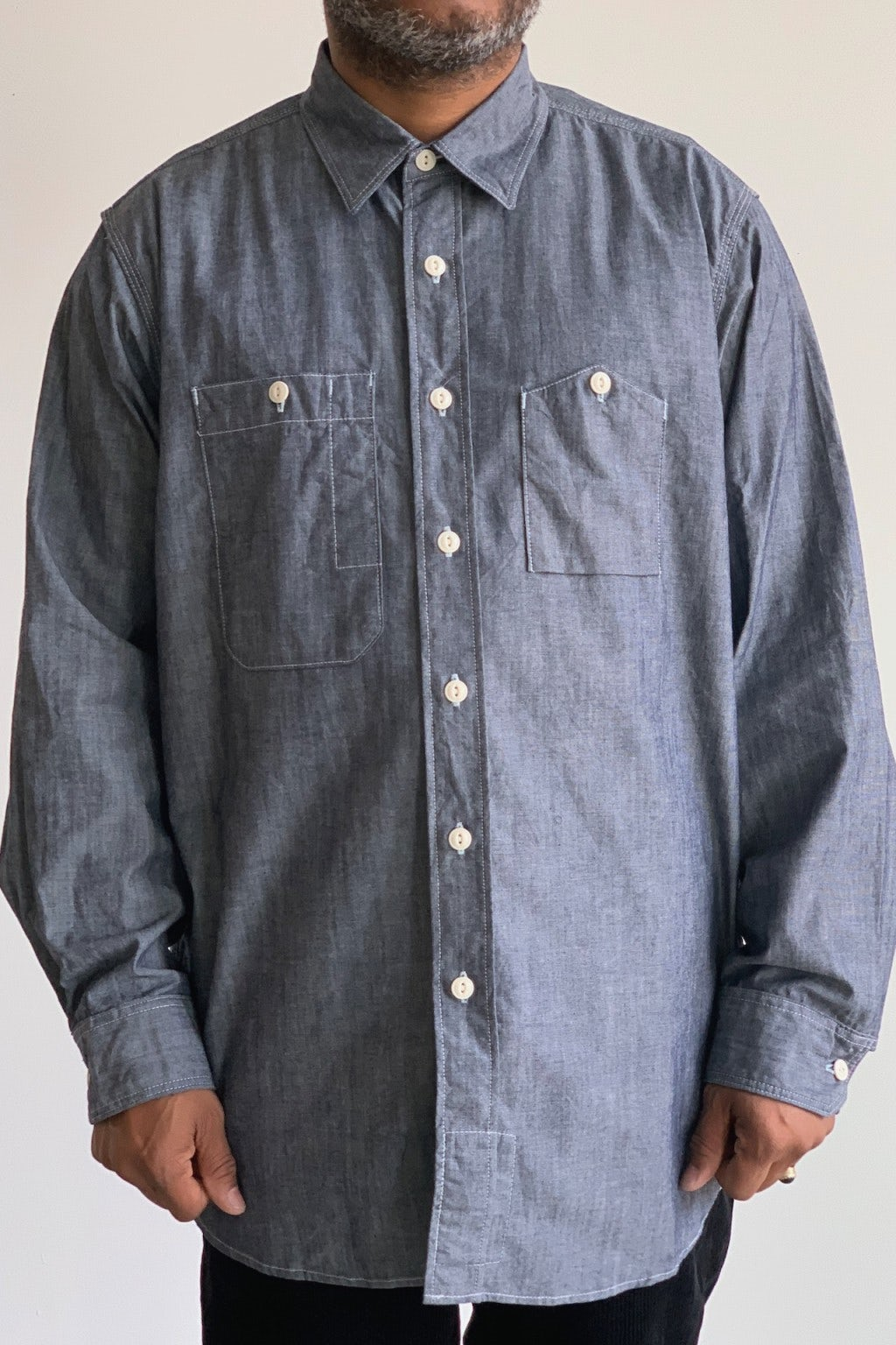 Engineered Garments Work Shirt Indigo Cotton Chambray