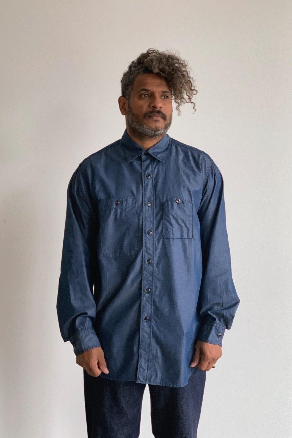 Engineered Garments Work Shirt Dark Blue/Light Denim
