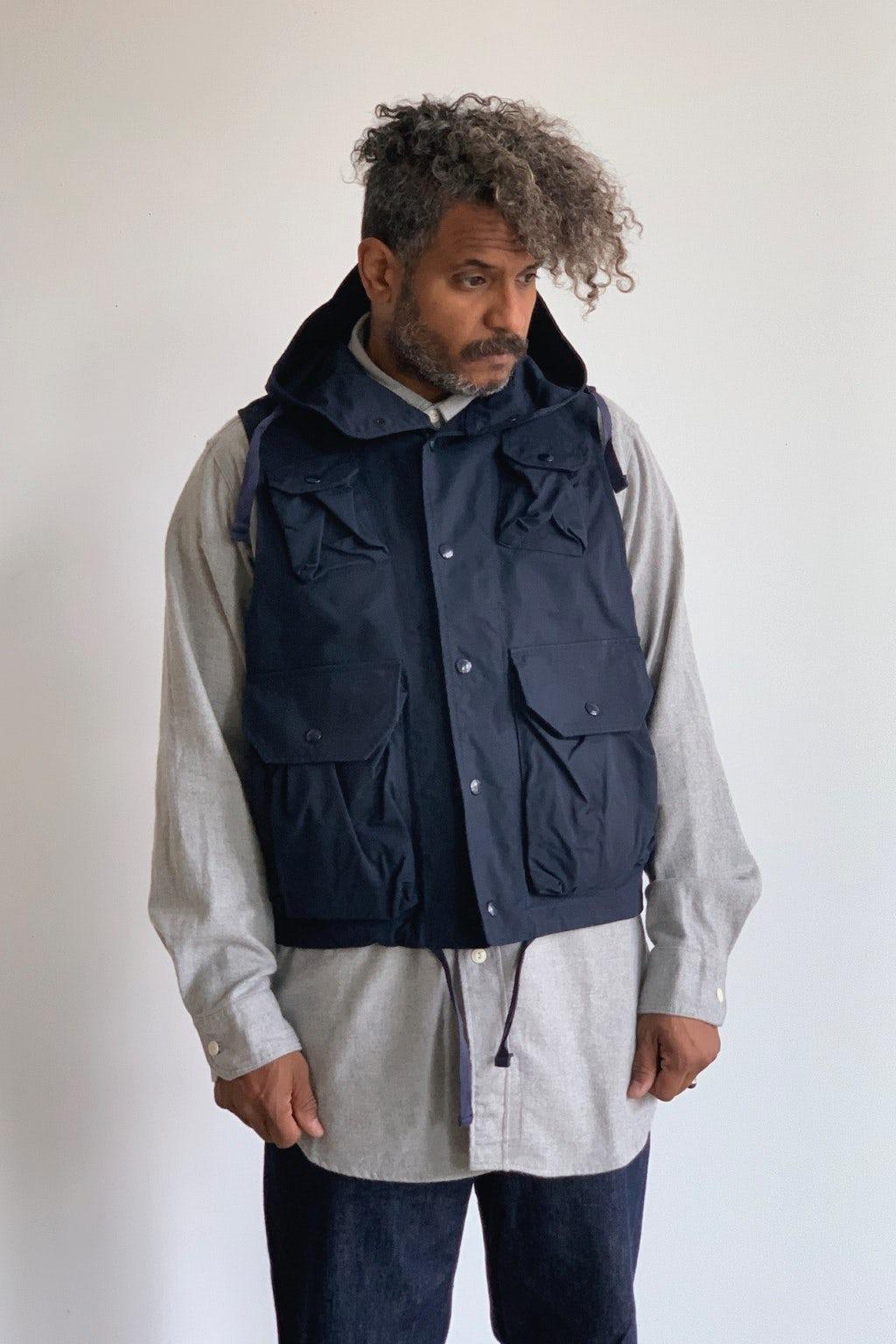 Engineered Garments Field Vest  Dark Navy Nyco Ripstop