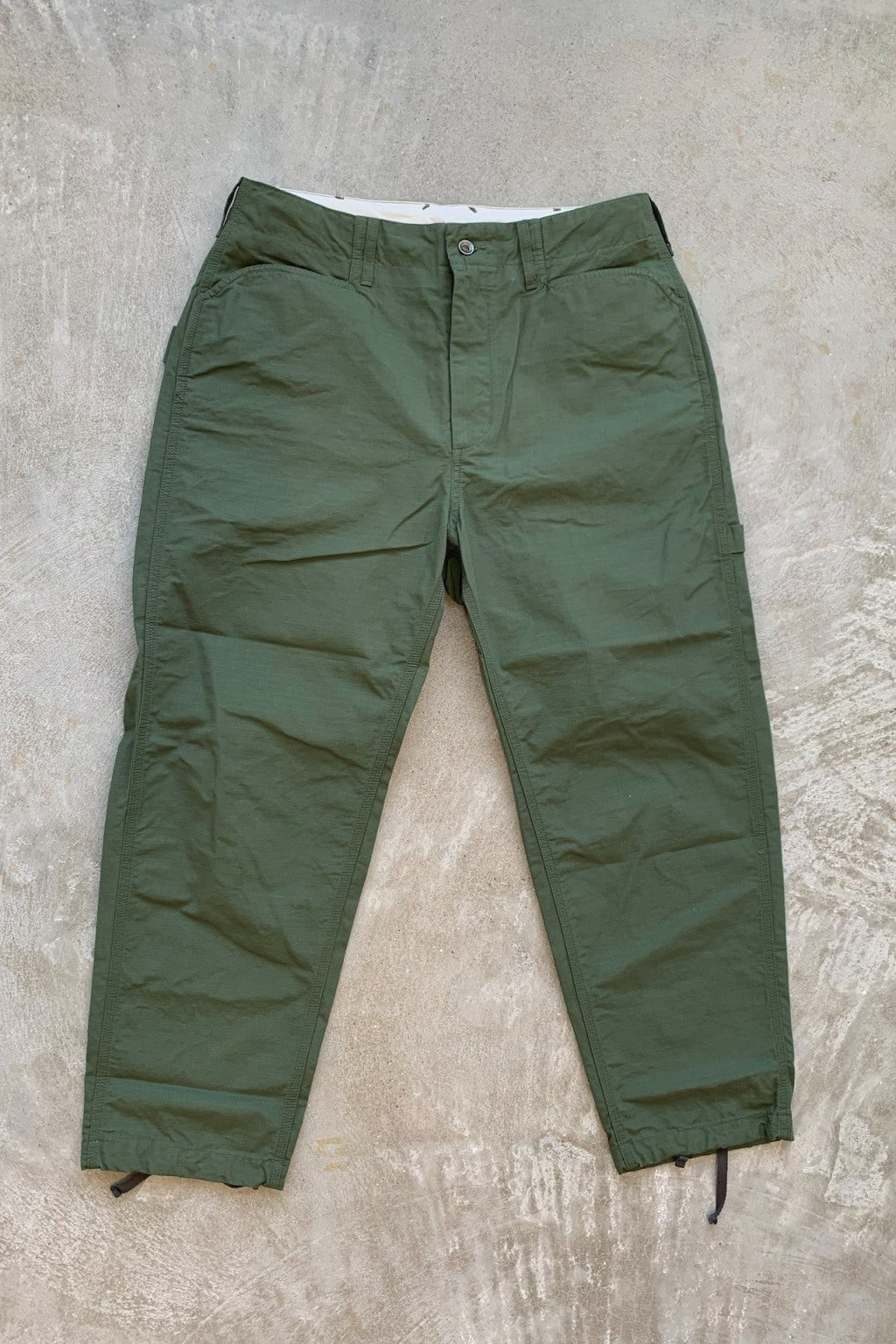Engineered Garments Painter Pant Olive Cotton Ripstop