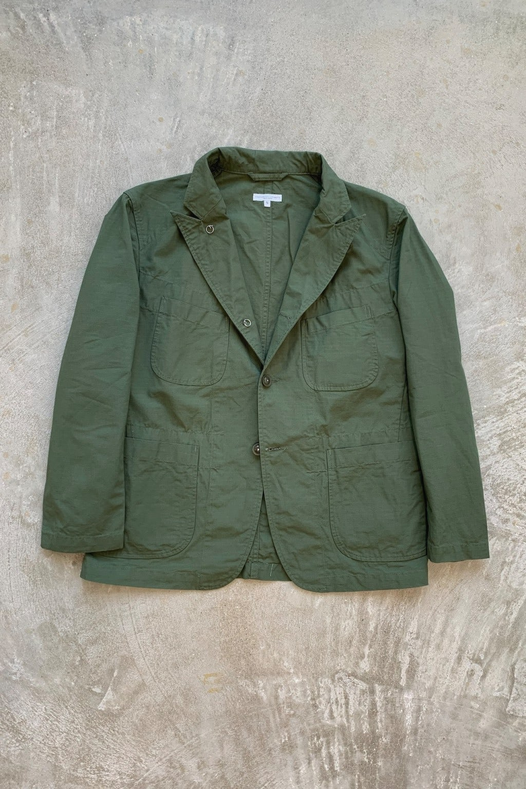 Engineered Garments Bedford Jacket Olive Cotton Ripstop