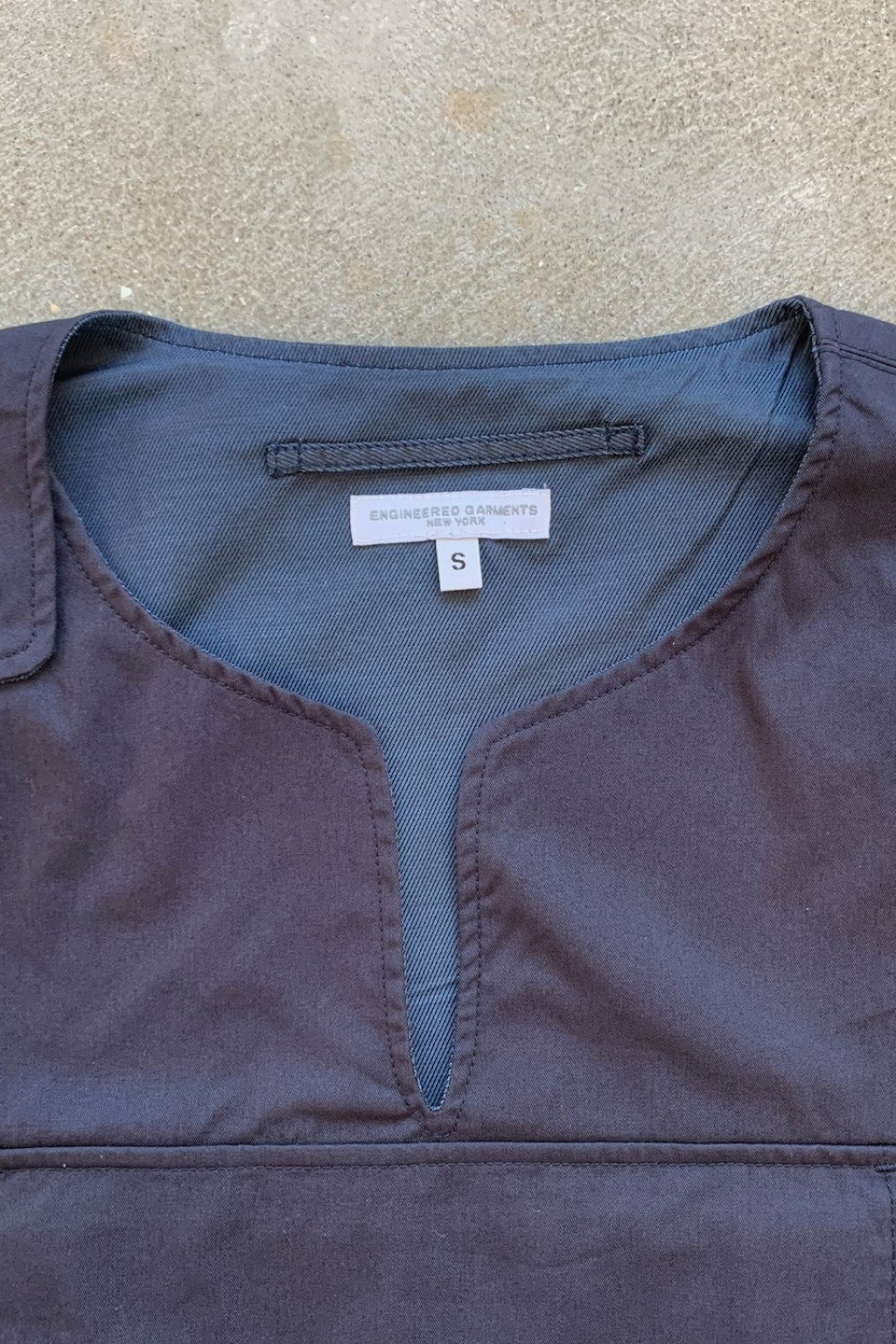 Engineered Garments Cover Vest Dark Navy Highcount Twill