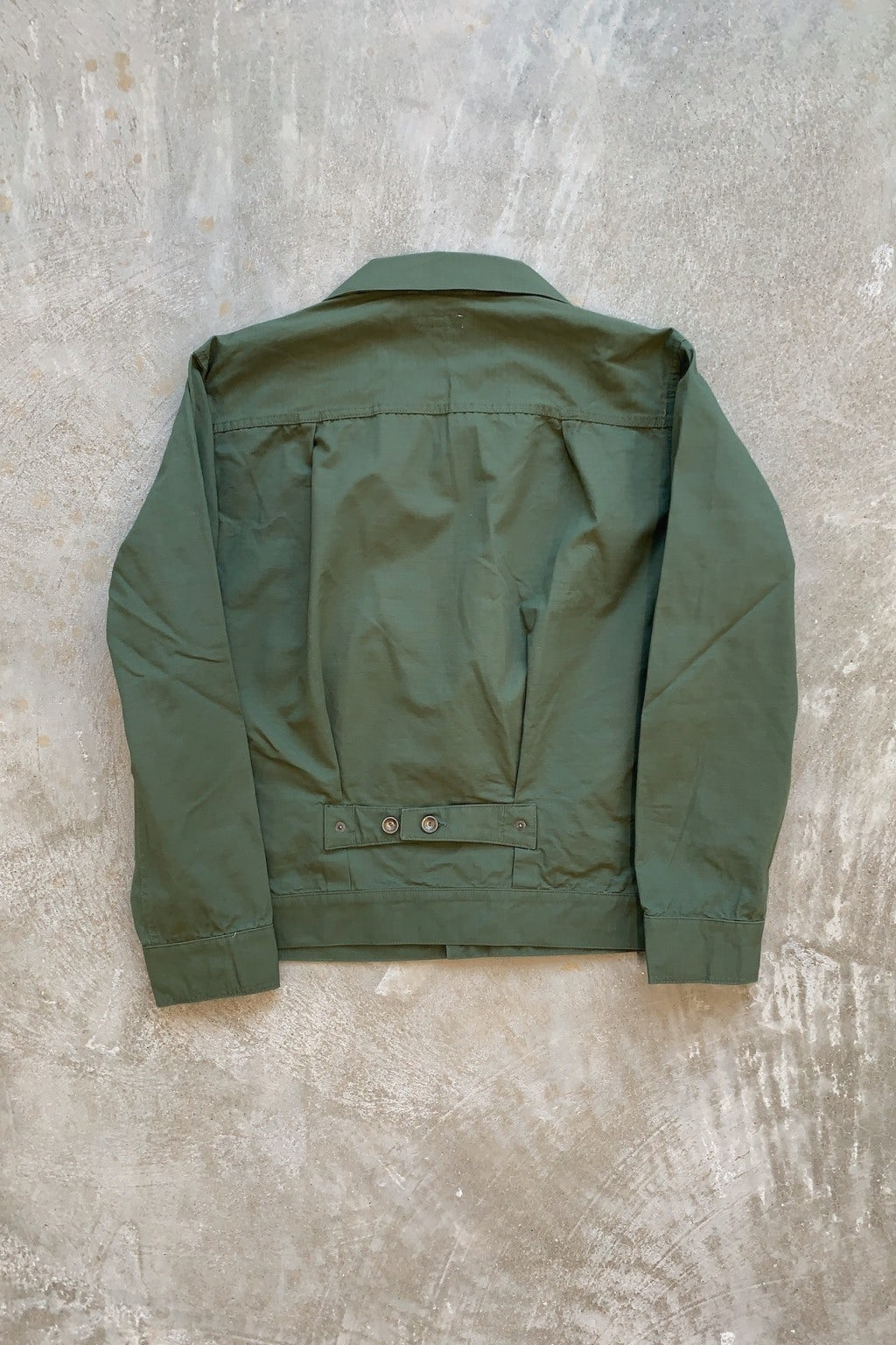 Engineered Garments Trucker Jacket Olive Ripstop