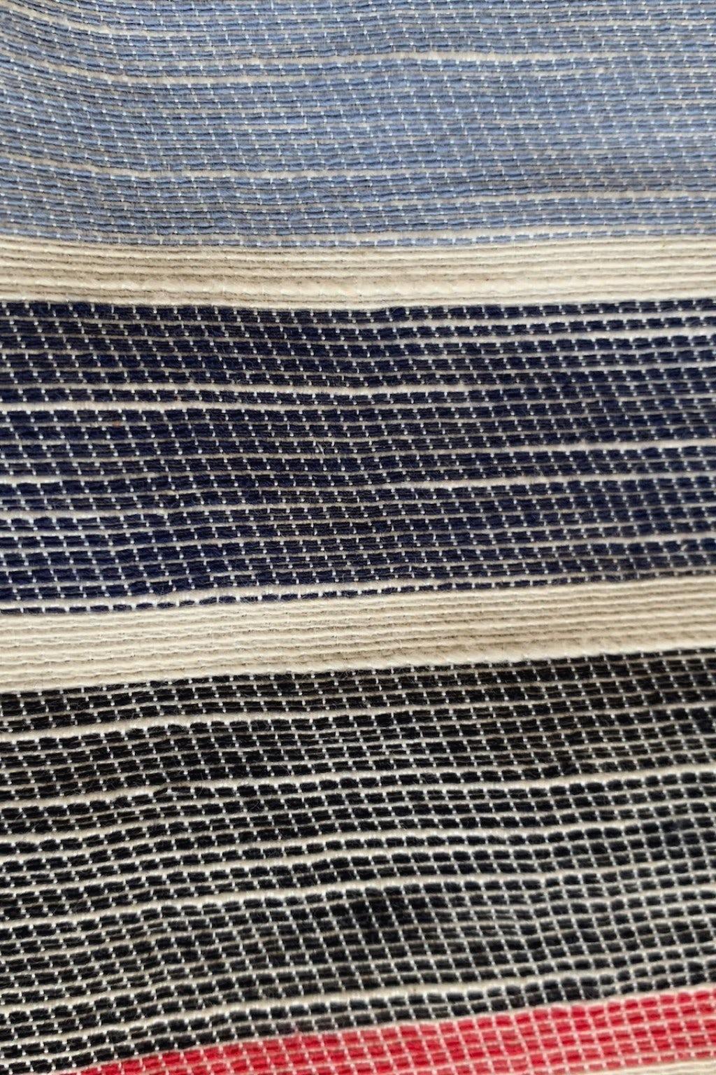 Engineered Garments Long Scarf Red Blue Slab
