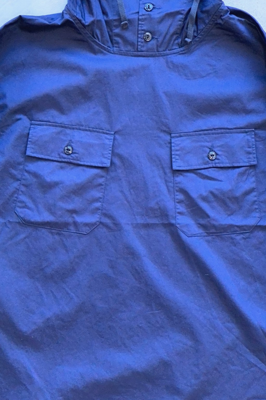 Engineered Garments Cagoule Shirt Navy Cotton Nano Twill