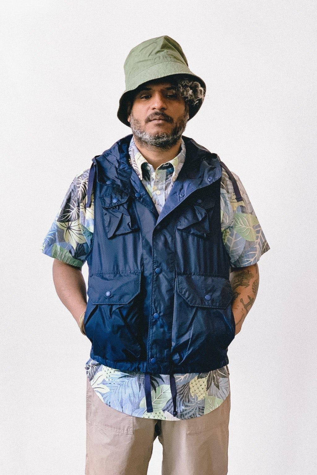 Engineered Garments Field Vest  Dark Navy Nylon Micro Ripstop
