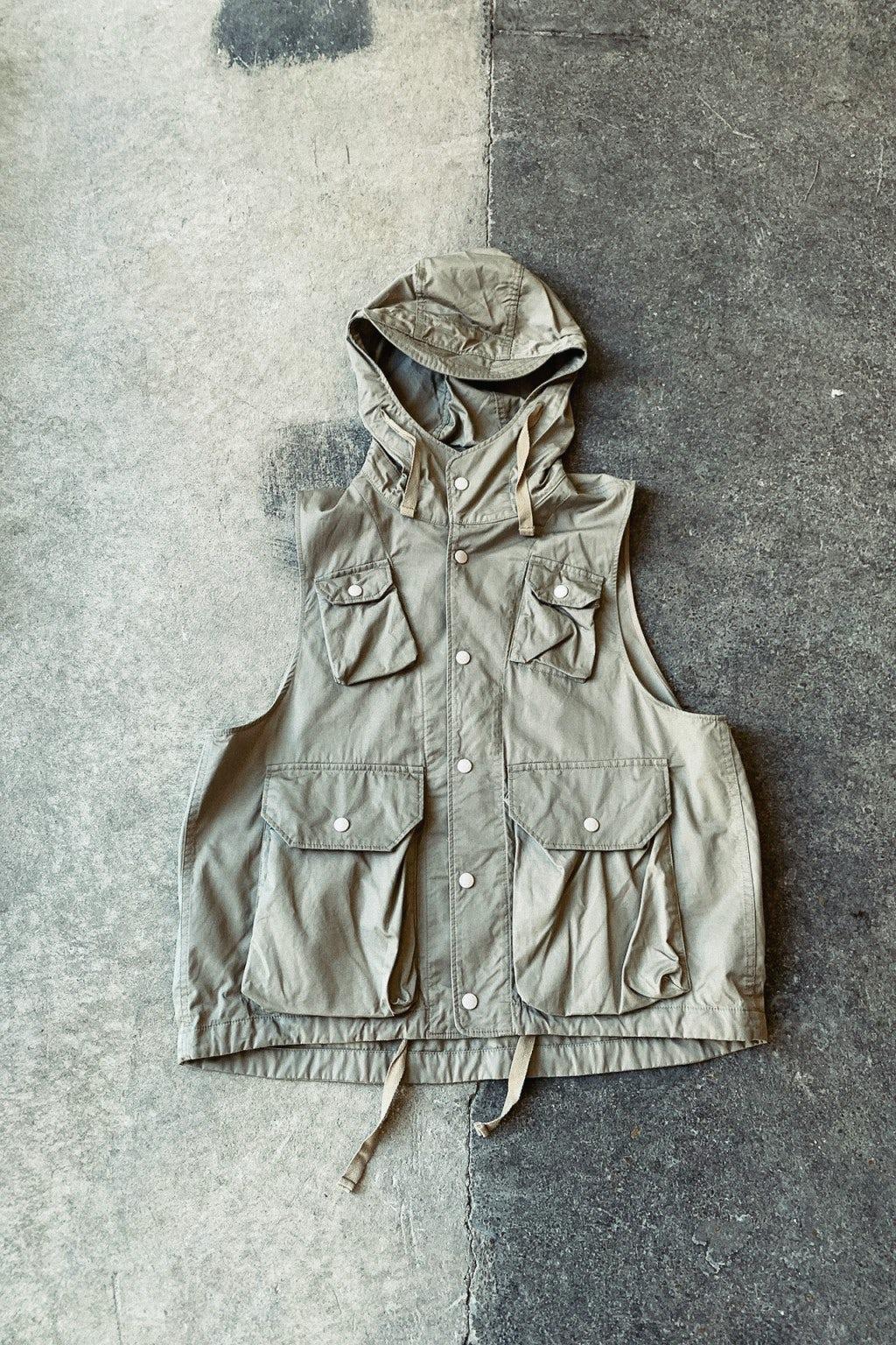 Engineered Garments Field Vest Khaki High Count Twill