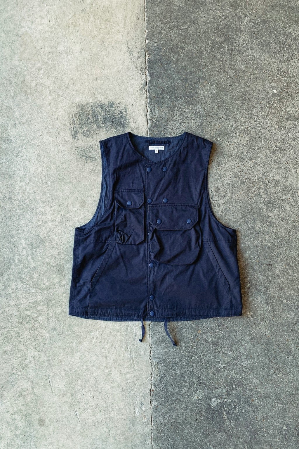 Engineered Garments Cover Vest  Dark Navy High Count Twill