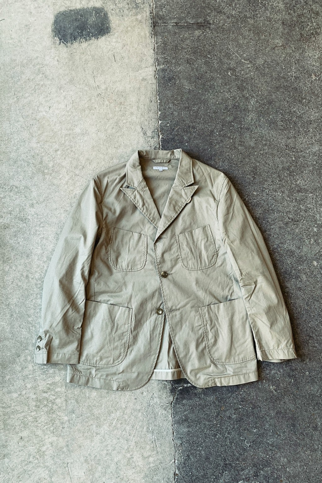Engineered Garments NB Jacket Khaki High Count Twill