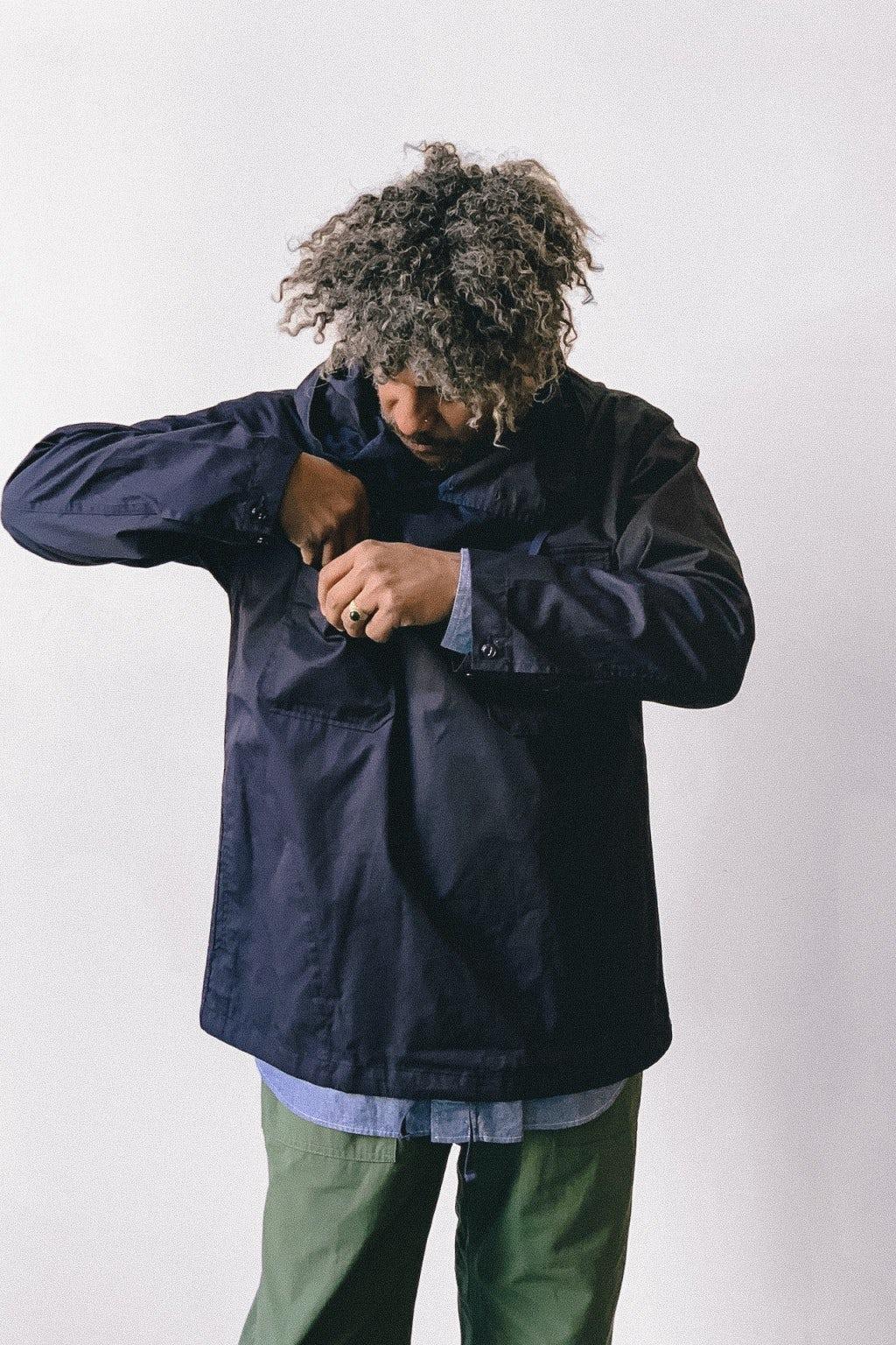 Engineered Garments Cagoule Shirt Dark Navy High Count Twill