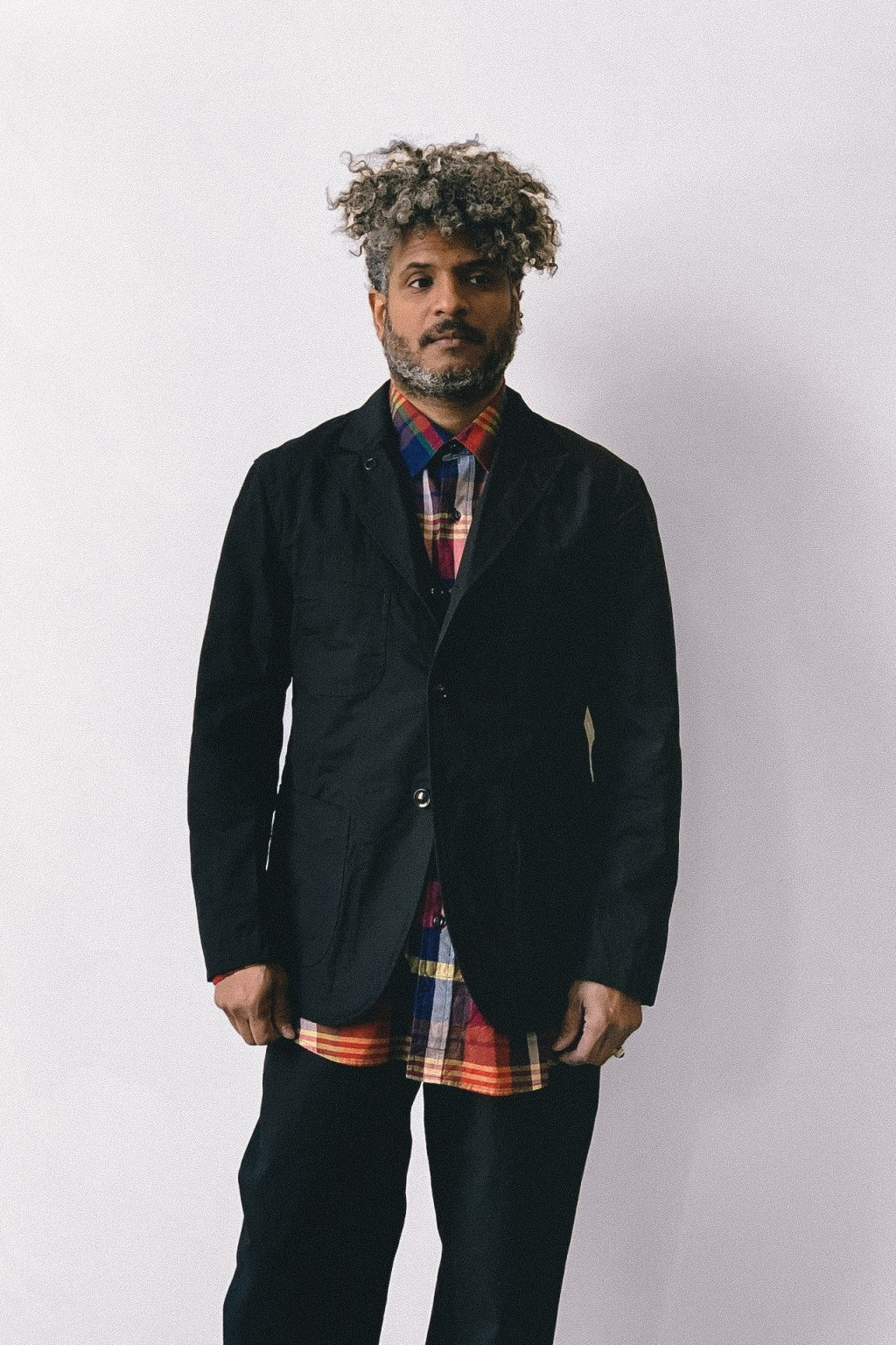 Engineered Garments Bedford Jacket Black Cotton Ripstop