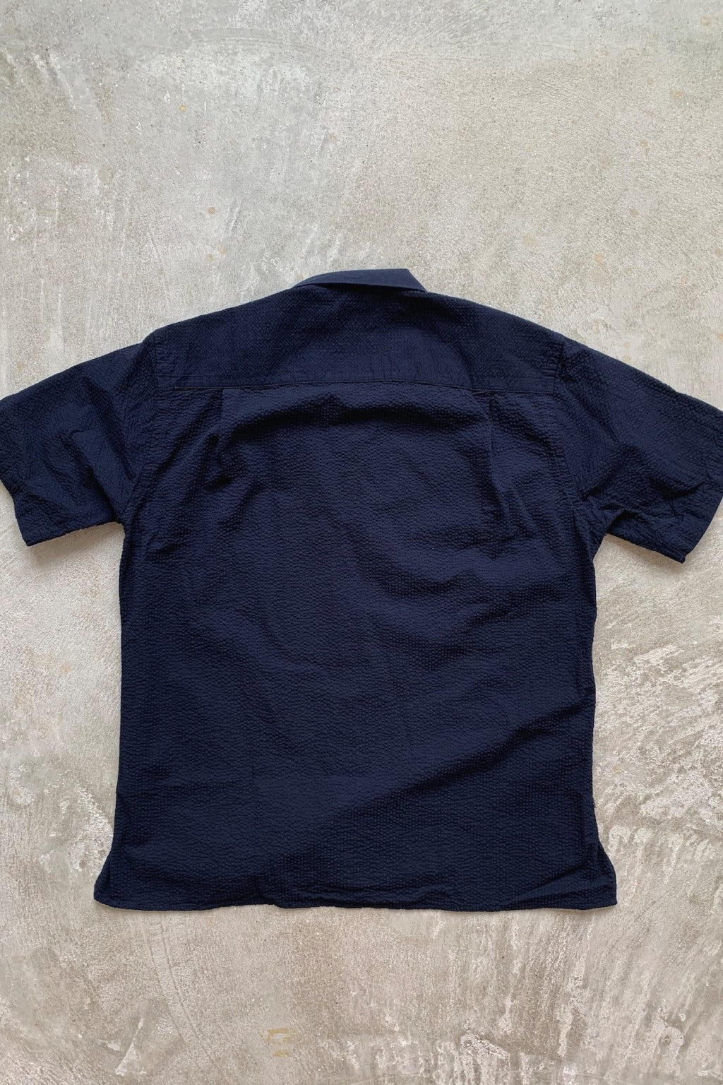 Gitman Bros. Vintage Camp Shirt Navy Seersucker