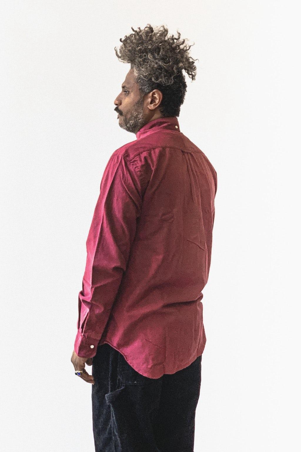 Gitman Bros. Vintage Button Down Shirt Burgundy Flannel