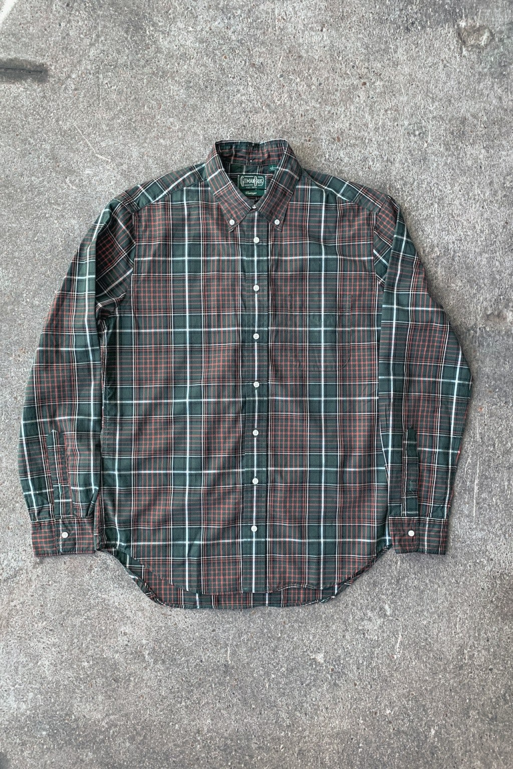 Gitman Bros. Vintage Button Down Shirt Green Beefy Poplin