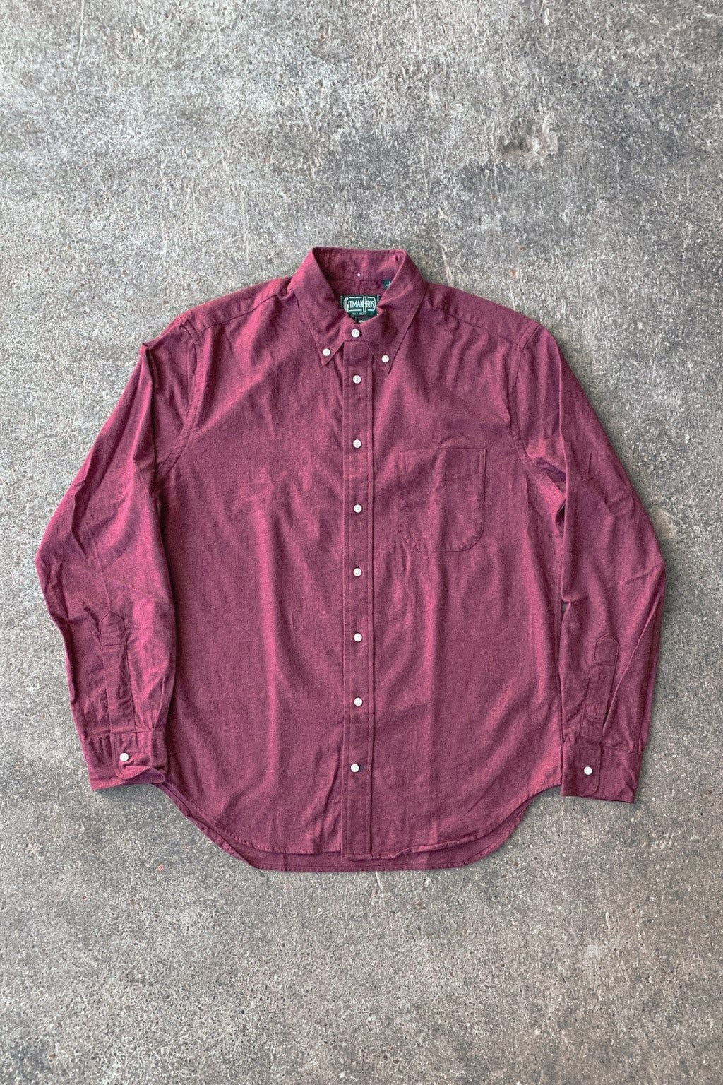 Gitman Bros. Vintage Button Down Shirt Burgundy Flannel