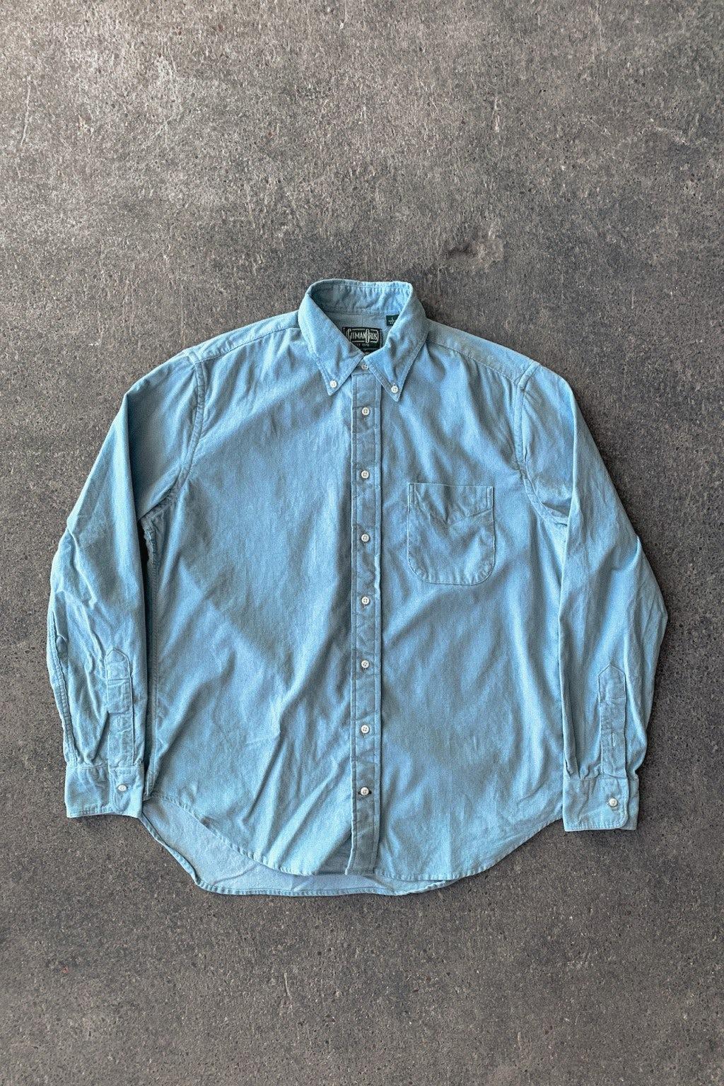 Gitman Bros. Vintage Button Down Shirt Sky Blue Corduroy