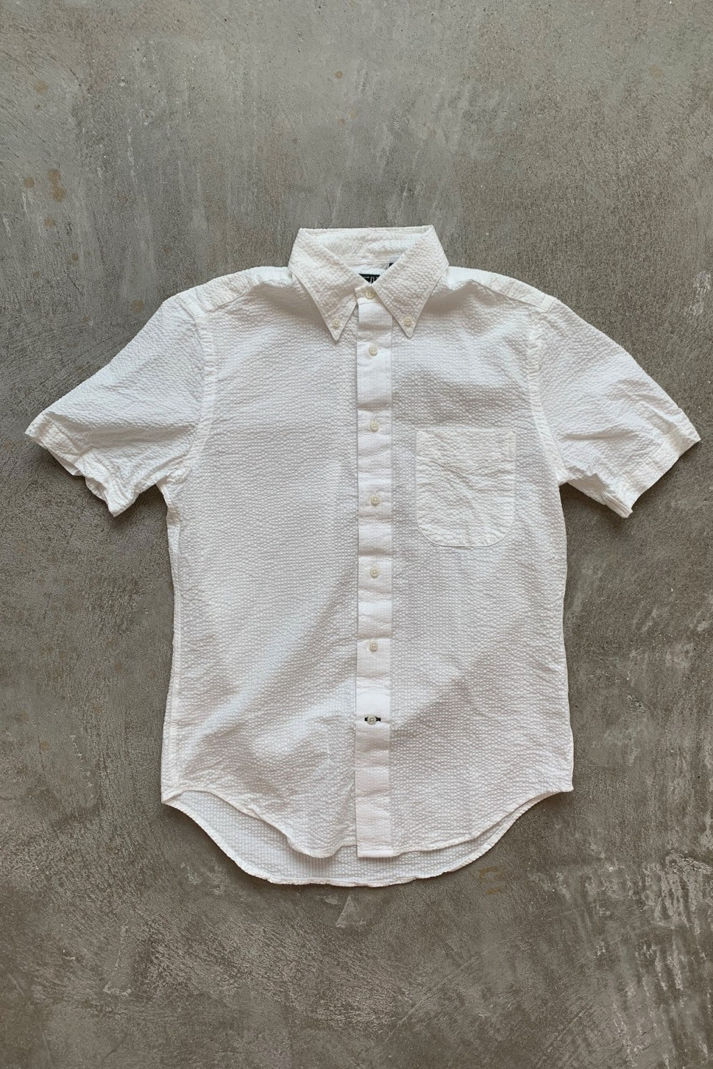 Gitman Bros. Vintage Short Sleeve Button Down Shirt White Seersucker
