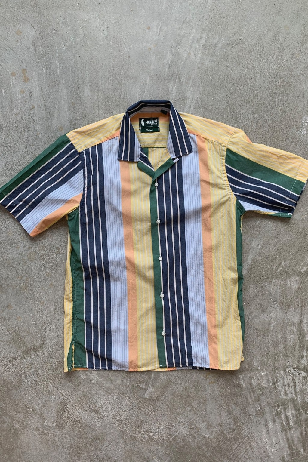 Gitman Bros. Vintage Camp Collar Shirt Multicolor Stripe