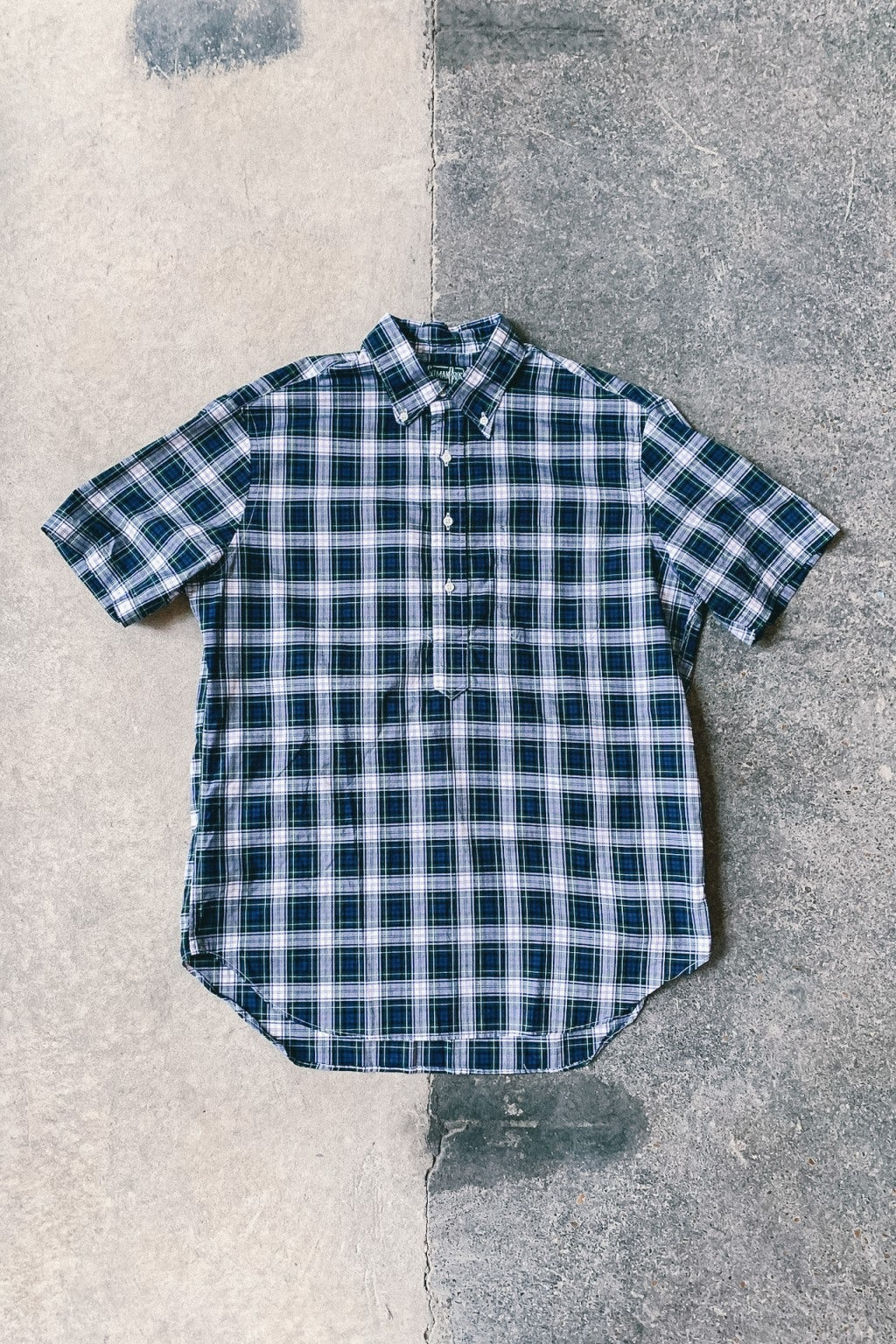 Gitman Bros. Vintage Short Sleeve Popover Shirt Plaid