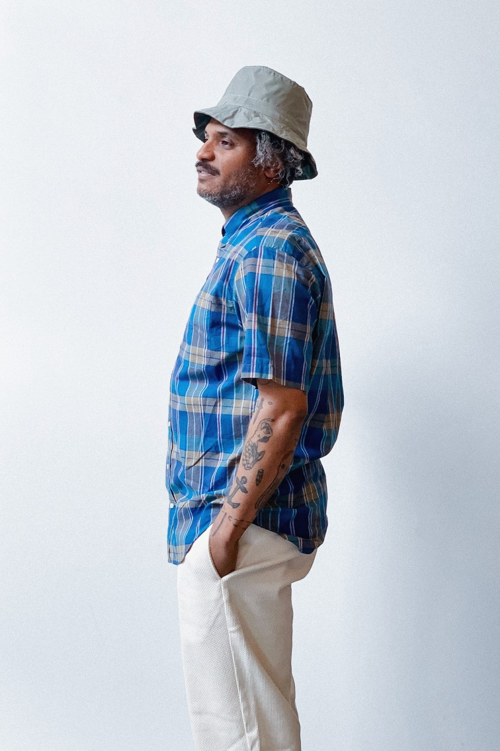 Gitman Bros. Vintage Short Sleeve Button Down Shirt Madras