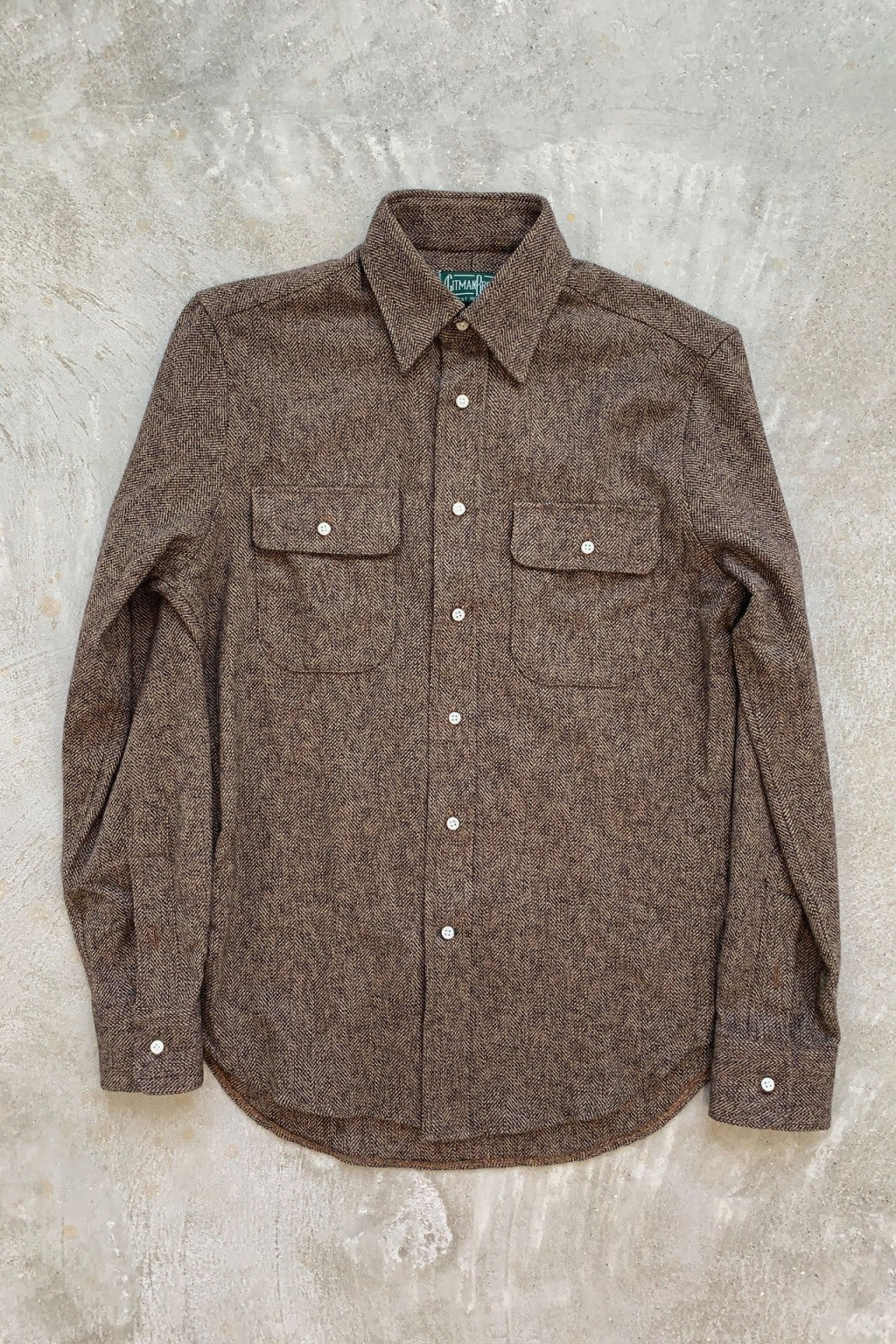 Gitman Bros. Vintage Long Sleeve Button Down  Brown Tweed
