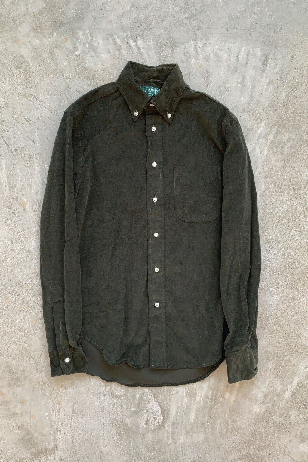 Gitman Bros. Vintage Long Sleeve Button Down  Olive Corduroy