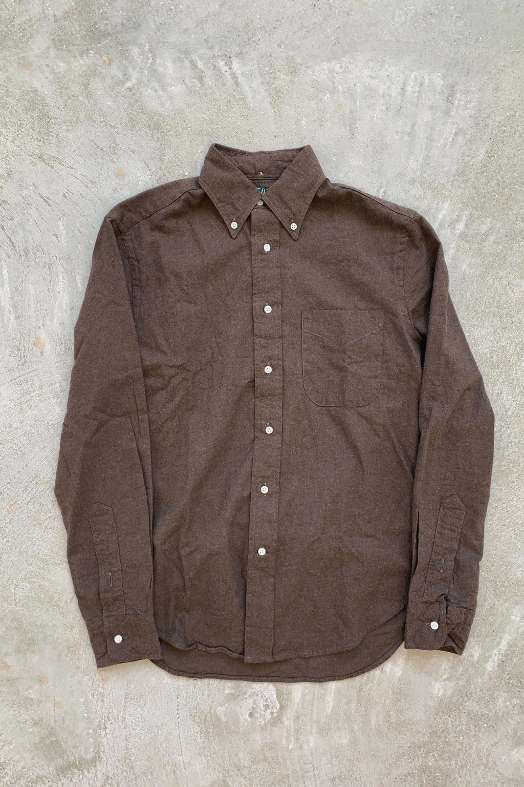 Gitman Bros. Vintage Classic Long Sleeve Flannel Brown Flannel
