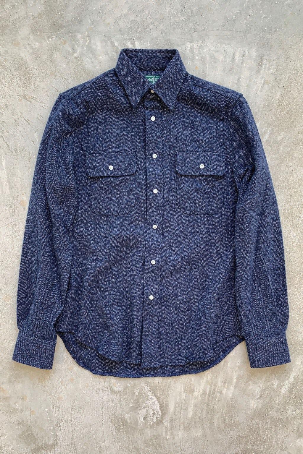 Gitman Bros. Vintage Longsleeve Button Down Navy Cotton Tweed