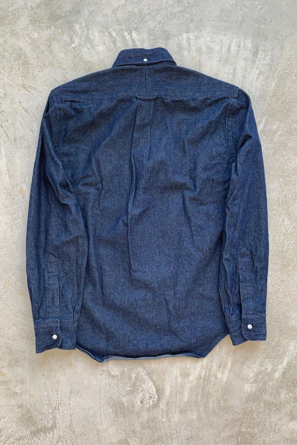 Gitman Bros. Vintage Long Sleeve Button Down  Dark Denim