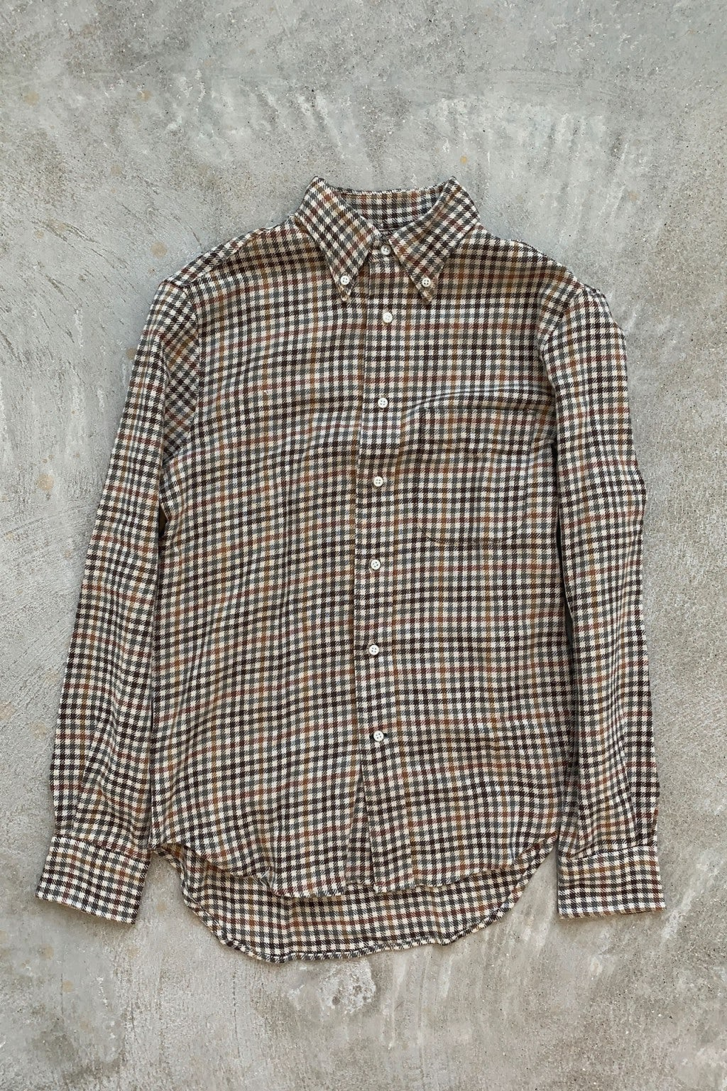 Gitman Bros. Vintage Long Sleeve Button Down  Brown Gingham Check