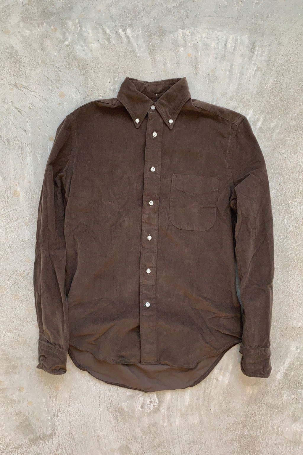 Gitman Bros. Vintage Long Sleeve Button Down  Brown Corduroy