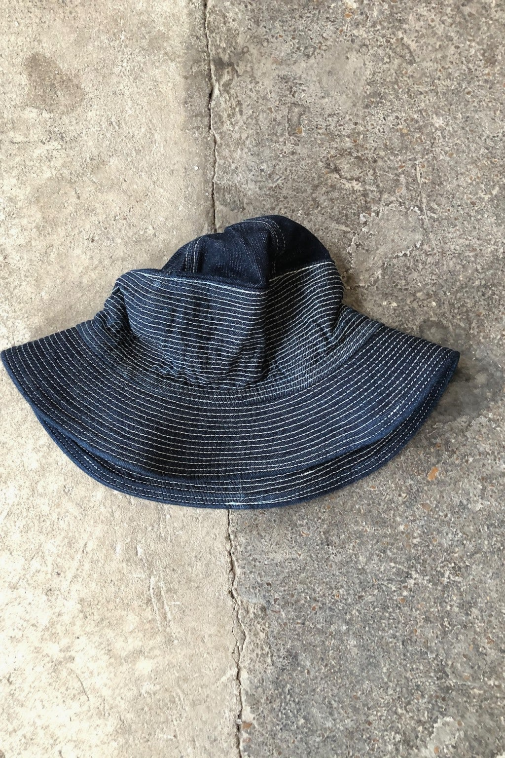 Kapital 12oz Denim THE OLD MAN AND THE SEA Hat Dark