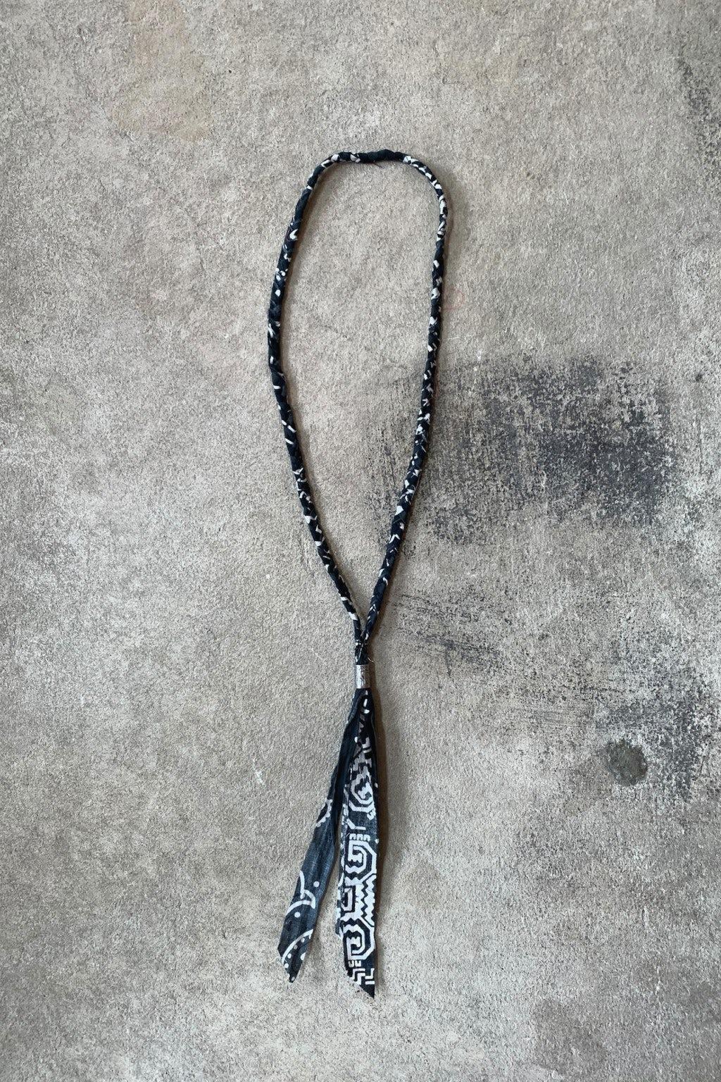 Kapital Gauze Bandana Fringed Necklace Black
