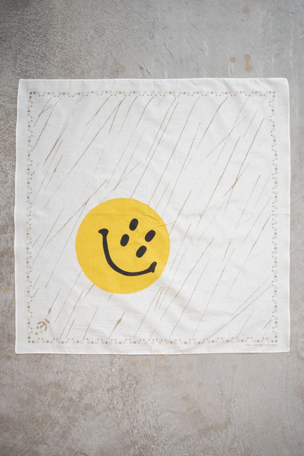 Kapital Fastcolor Selvedge Badana (RAIN SMILE) White