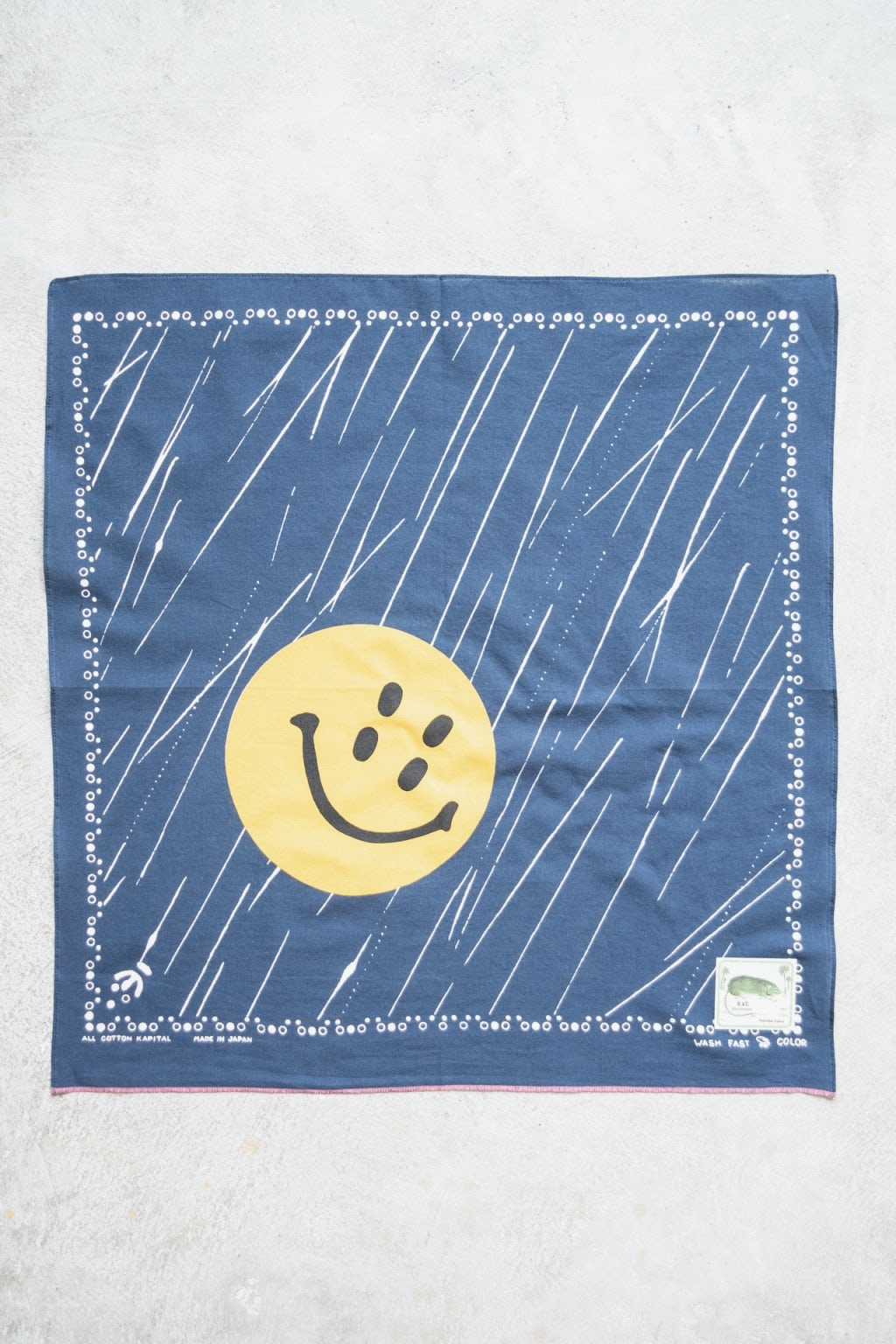 Kapital Fastcolor Selvedge Badana (RAIN SMILE) Navy