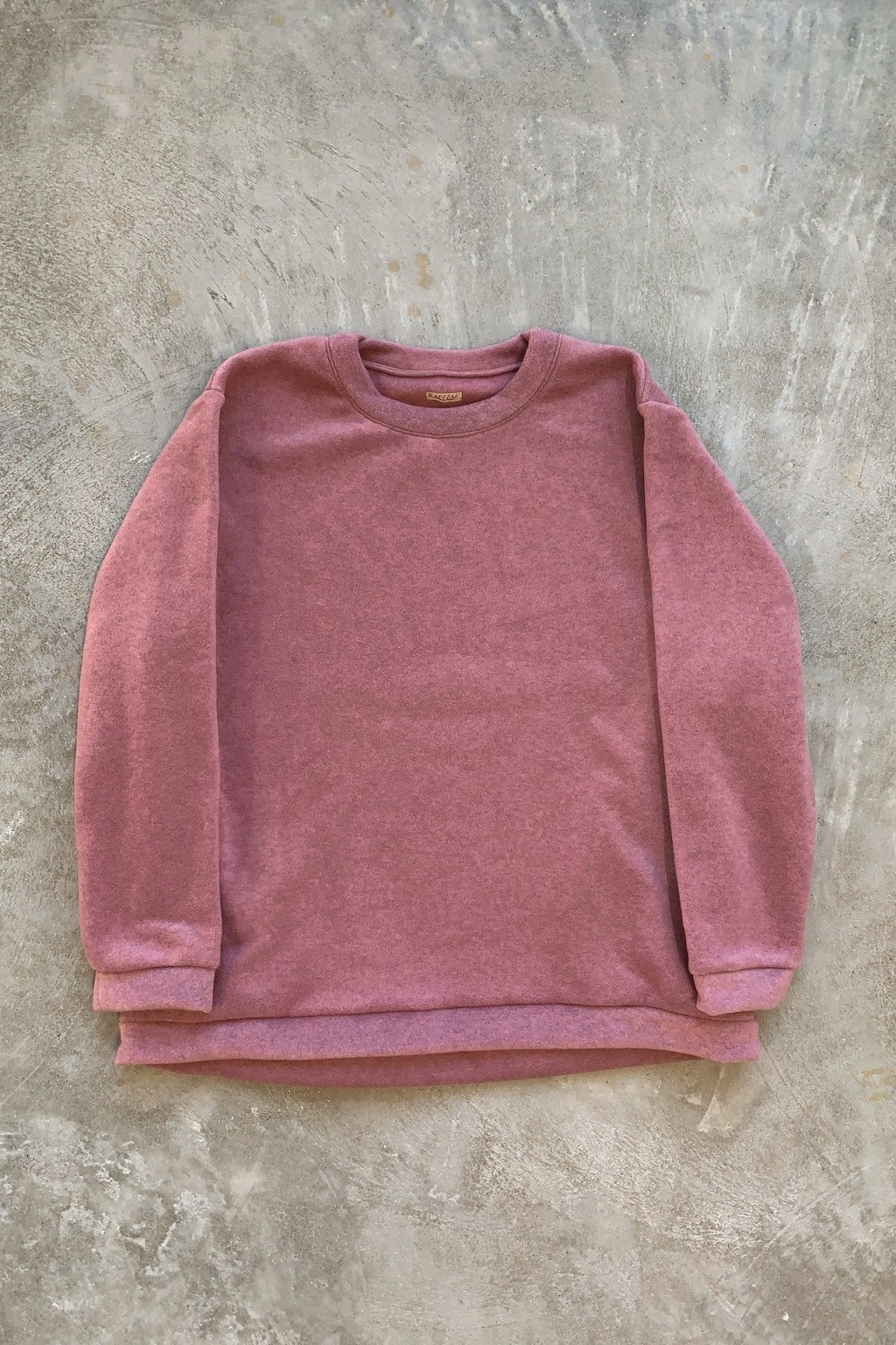 Kapital Reverse Fleece BIG Crew Sweat Shirt Pink