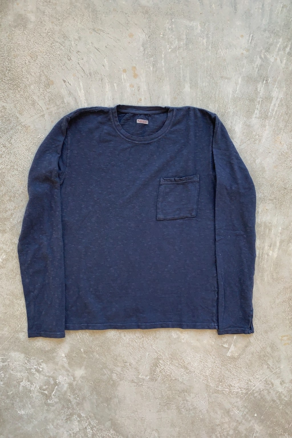 Kapital Amuse Knit Pocket Long Sleeve T Navy