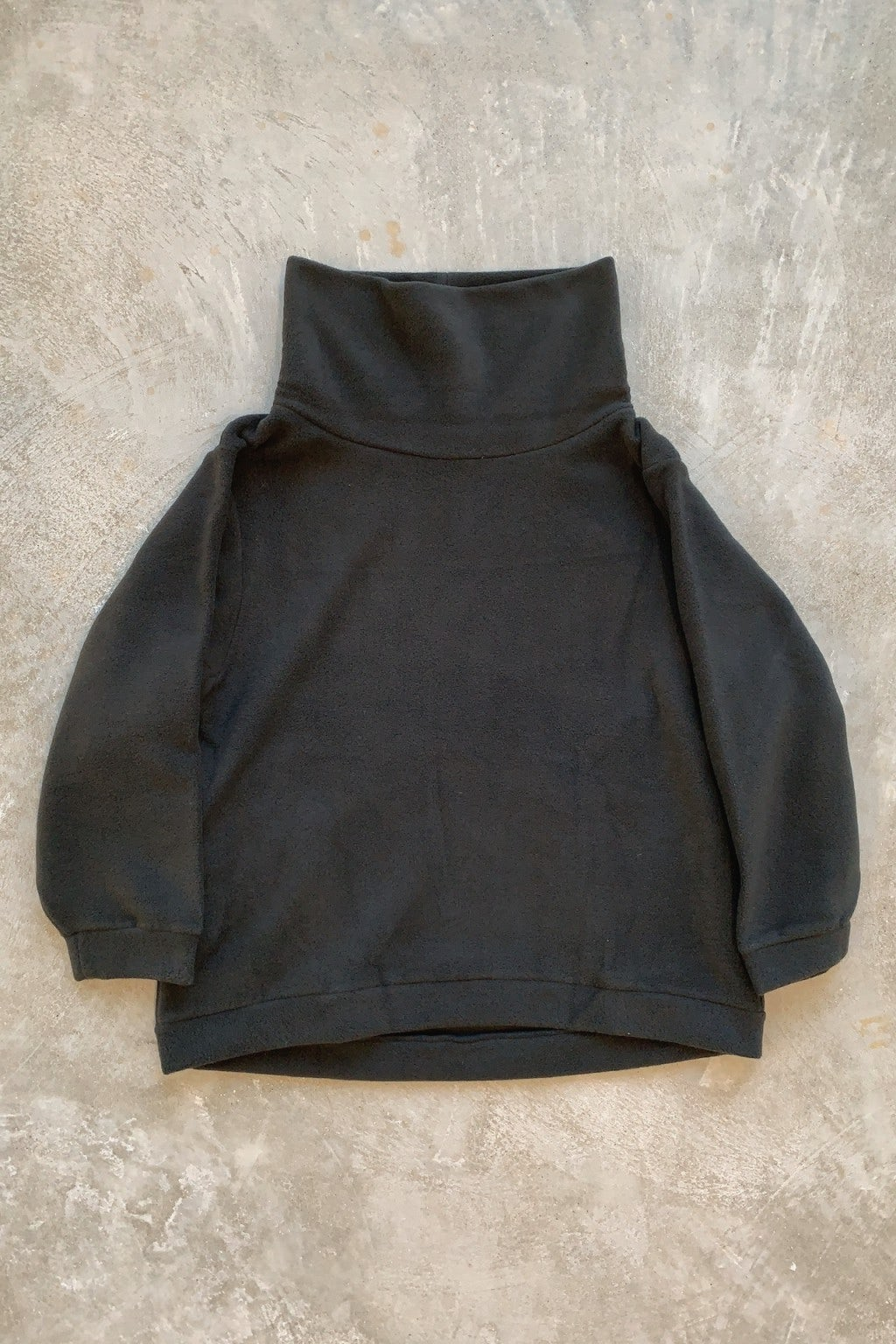 Kapital  Reverse Fleece BIG High Neck Sweat Shirt Black