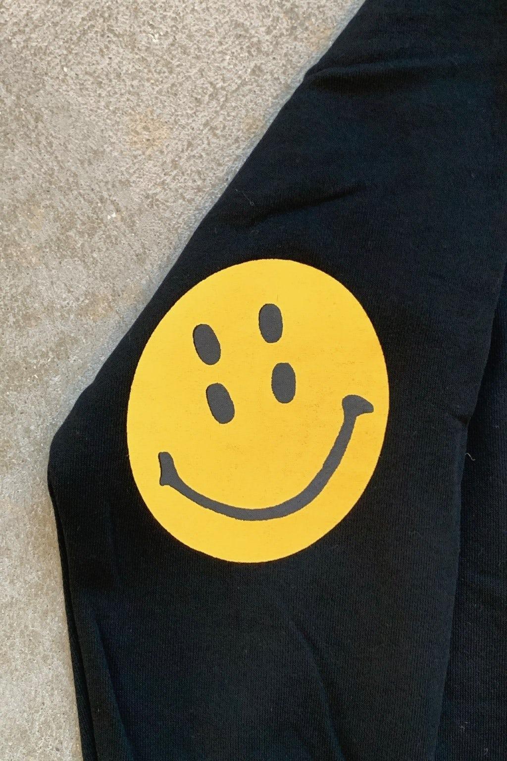 Kapital ECO Jersey Sweater Black Smilie Elbow