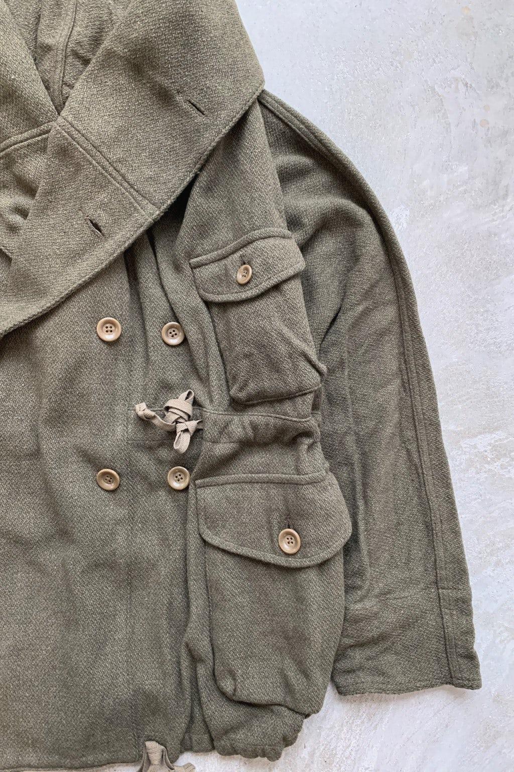 Kapital Vintage Melton Wool RIng Coat Olive