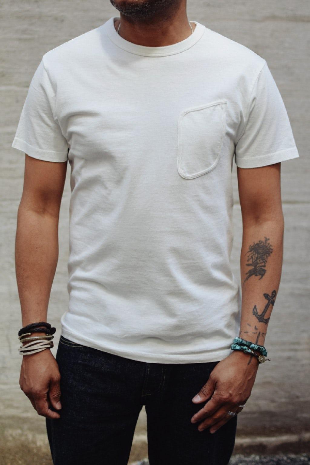 Lady White Co. Clark Pocket T-Shirt White Cotton