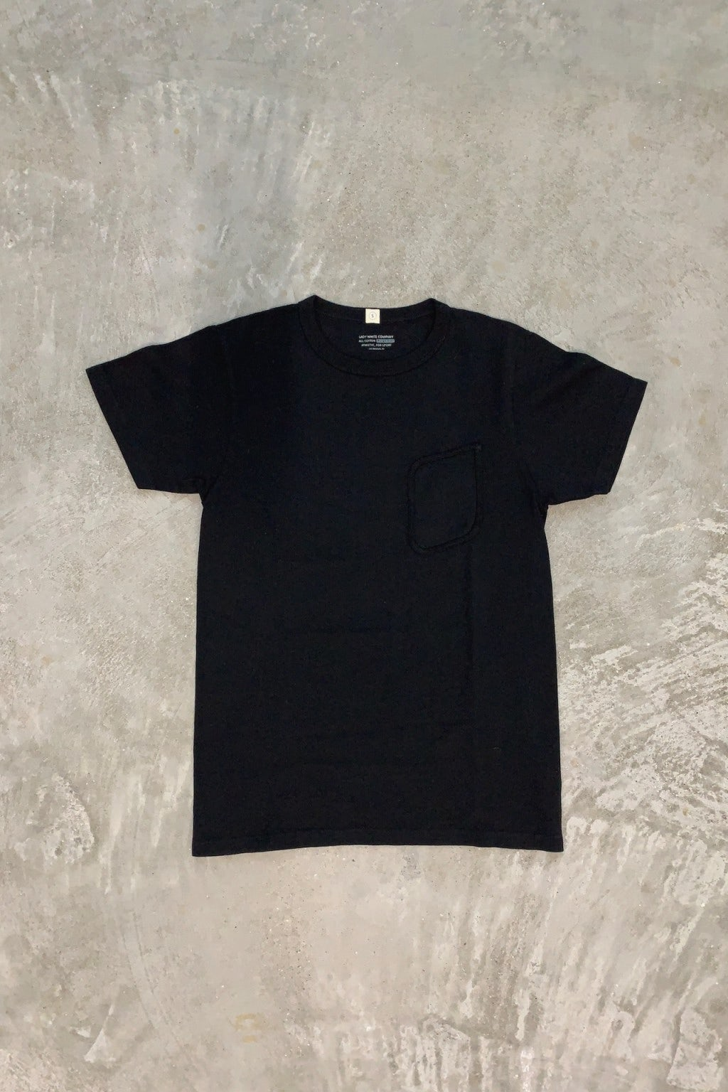Lady White Co. Clark Pocket T-Shirt Black Cotton