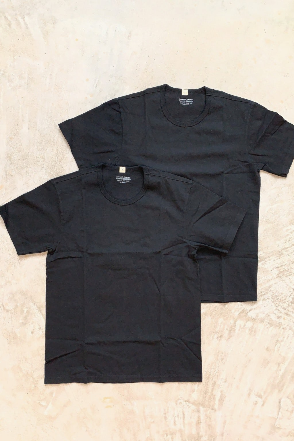 Lady White Co. Two Pack T-Shirts Black Cotton