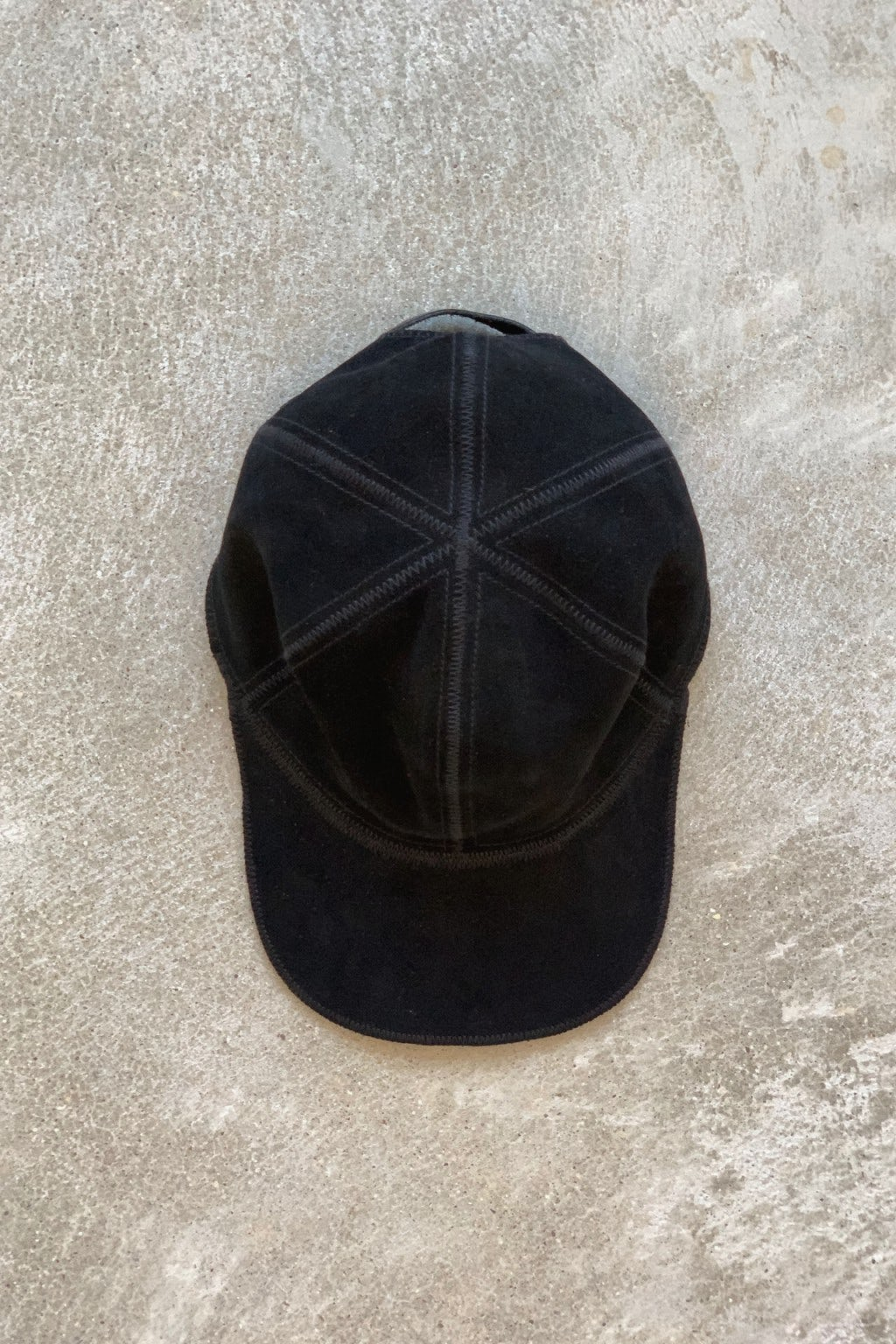Lady White Co. Hat Black Suede