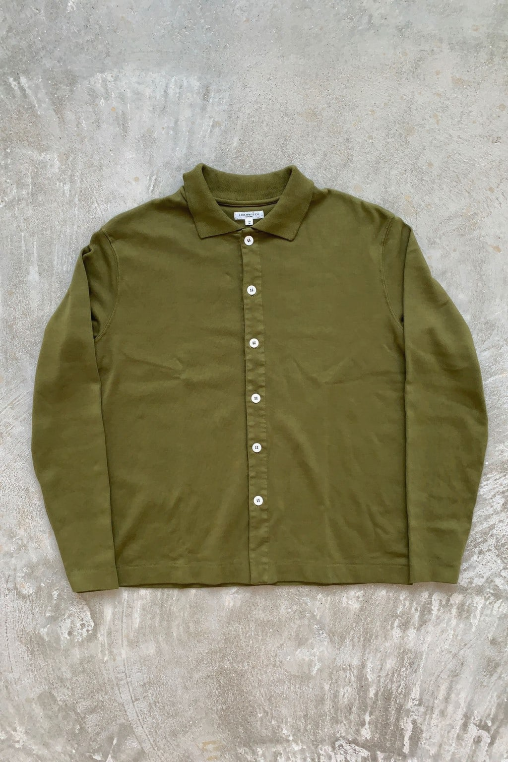 Lady White Co. Placket Polo Fern Green L/S