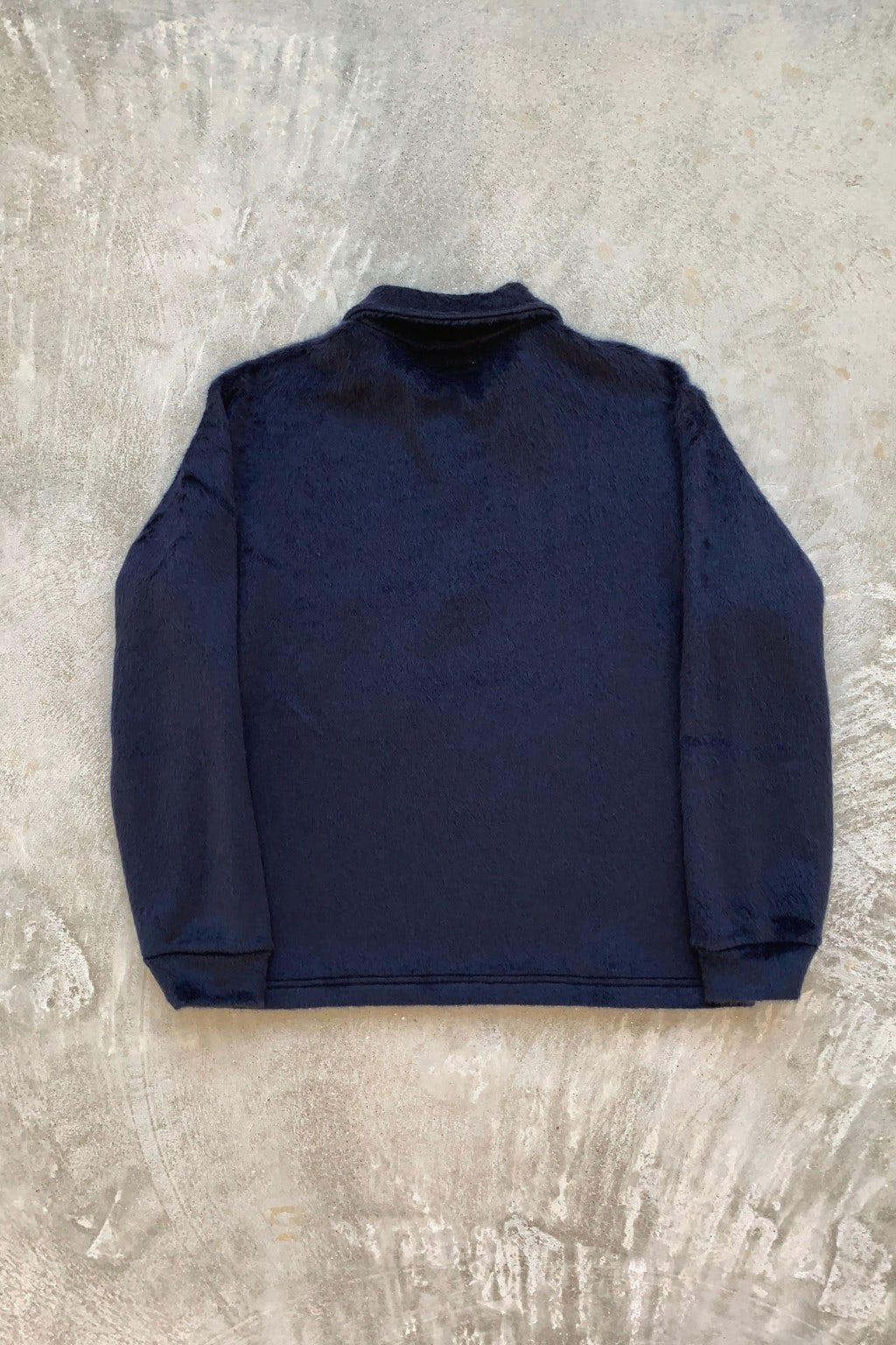 Lady White Co. Furry 1/4 Zip Navy Pullover