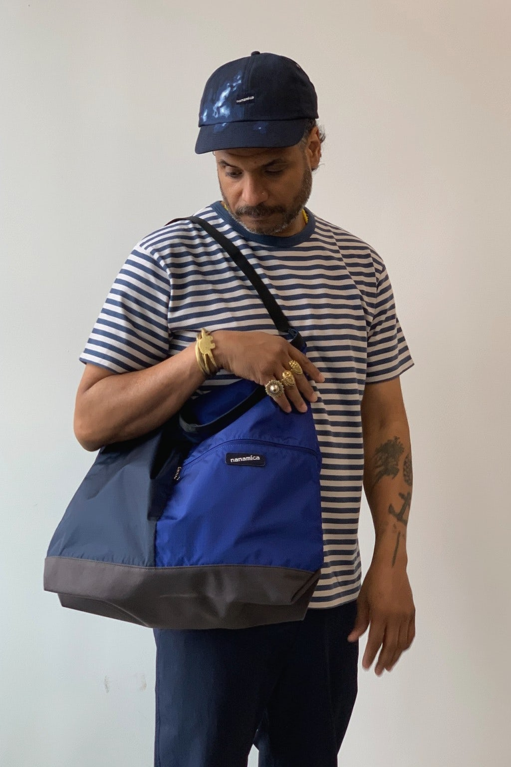 Nanamica Utility Shoulder Bag Large Navy & Blue