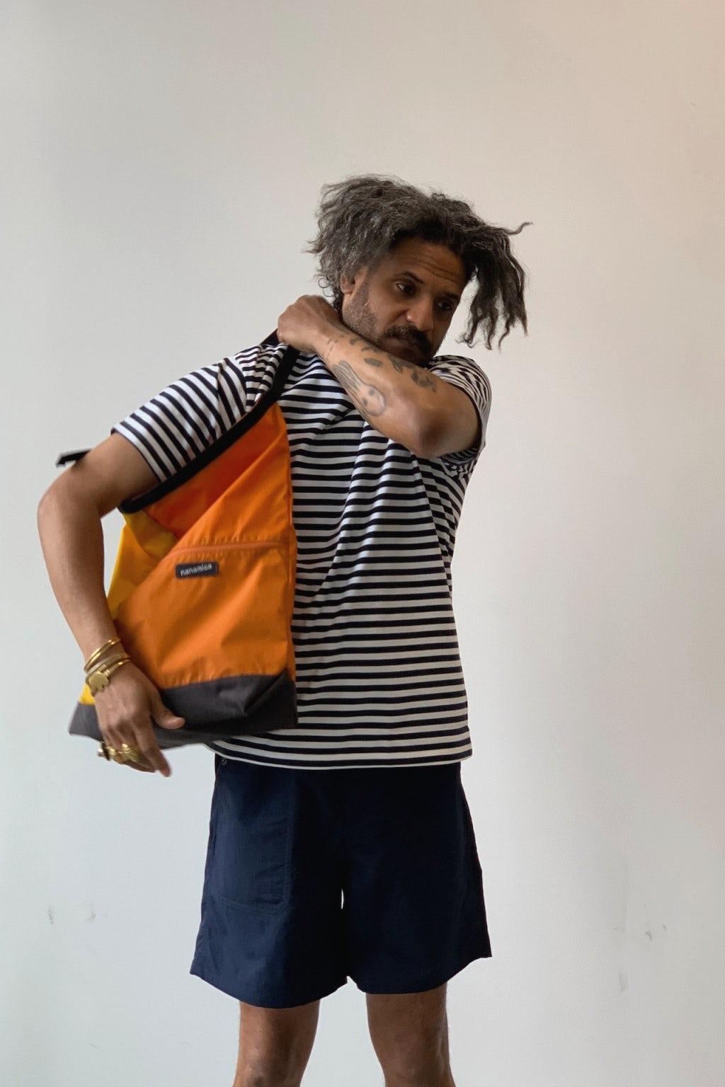Nanamica Utility Shoulder Bag Large Yellow & Orange