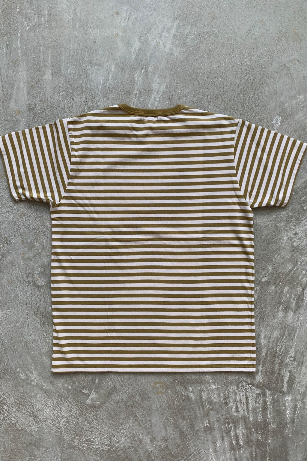 Nanamica Coolmax Striped Jersey Tee Mustard & Ivory