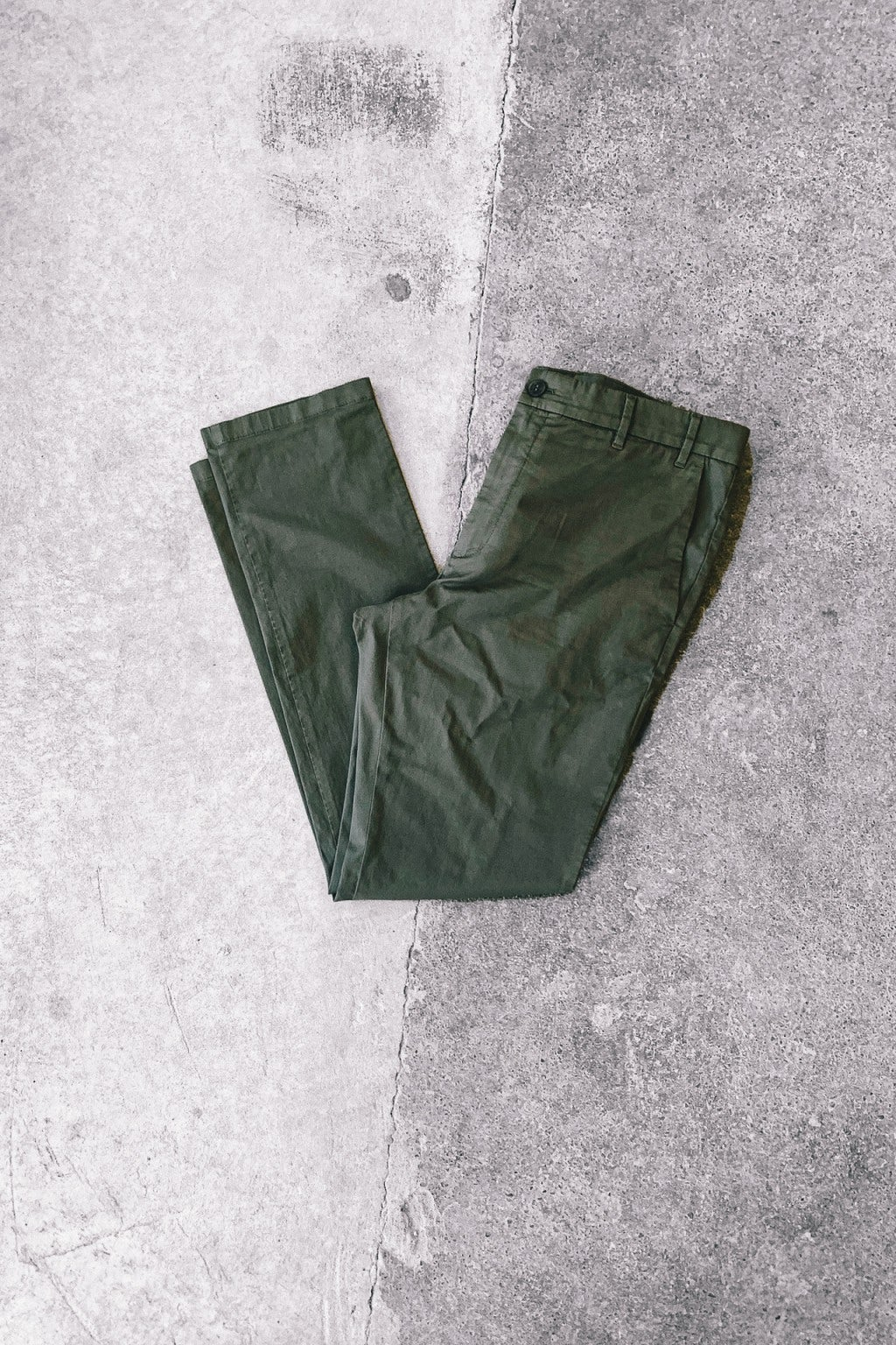 Norse Projects Aros Slim Light Stretch Ivy Green